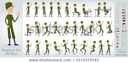 cartoon angry soldier boy stock photo © cthoman