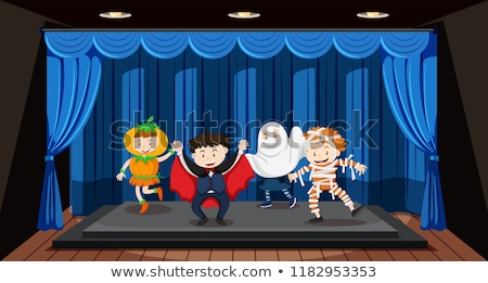 Kids doing role play on stage Stock photo © bluering