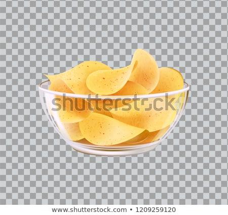 Chip Made of Potato Snack Vector Illustration Stock photo © robuart
