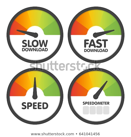 Speedometer Slow Stock photo © albund