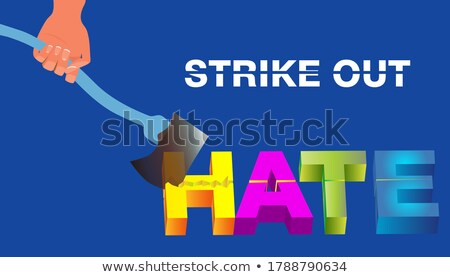 Spell it out axe Stock photo © bluering