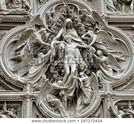 Stock fotó: építészeti · részletek · Milánó · katedrális · Olaszország · felfelé