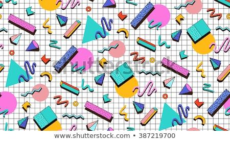 decoratie · psychedelic · ornament · naadloos · vector - stockfoto © foxysgraphic
