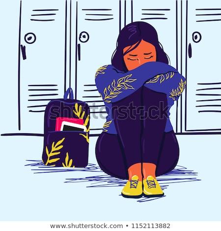 Cartoon Sad Teen Girl Stock photo © cthoman