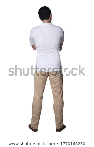 full length portrait of a confused young casual man stock photo © deandrobot