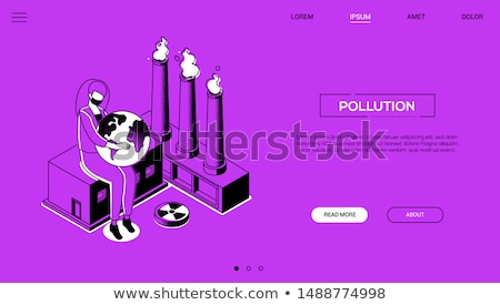 Factory - modern line design style vector illustration Stock photo © Decorwithme
