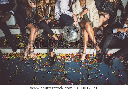 Feliz mulher jovem dança vidro vinho cinza Foto stock © dashapetrenko