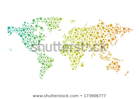 digital vector colorful background with world map, information world, cyber security, digital binary stock photo © kyryloff