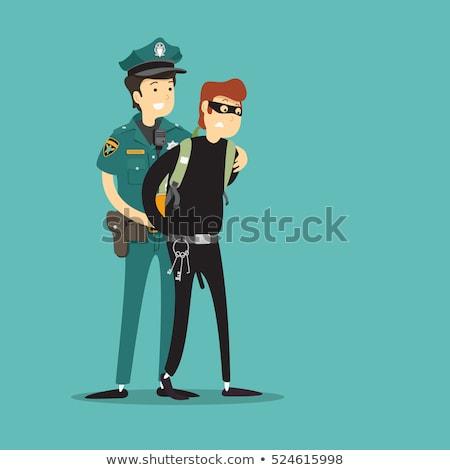 Cartoon полицейский Идея улыбаясь графических Сток-фото © cthoman