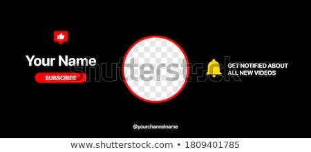 Vlog header or footer banner. Stock photo © RAStudio