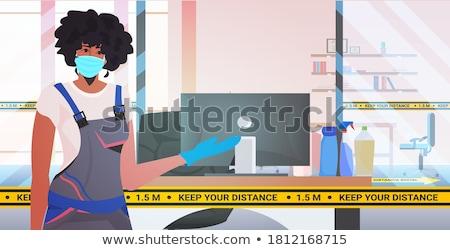 Kereskedelmi takarítás cég takaros felfelé iroda Stock fotó © RAStudio