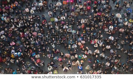pessoas · multidão · longa · exposição · rua - foto stock © joyr