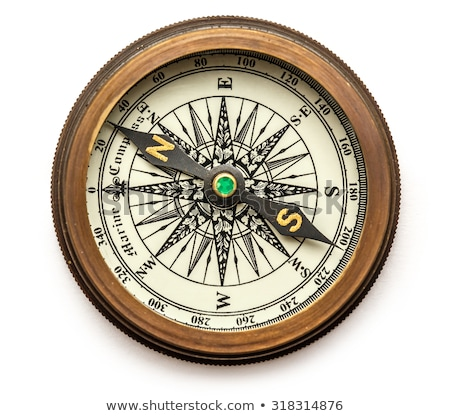 compass on white background stock photo © make