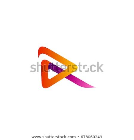 Logotipo roxo amarelo carta símbolo Foto stock © blaskorizov