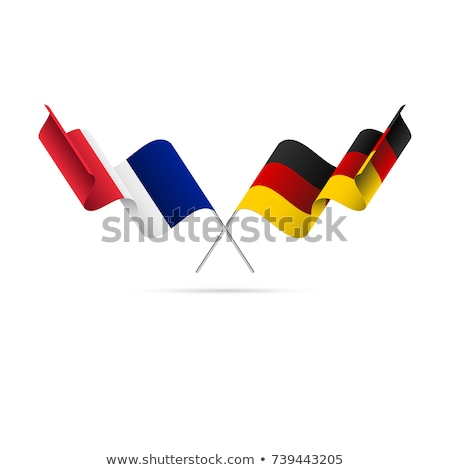 Two waving flags of Germany and france Stock photo © MikhailMishchenko