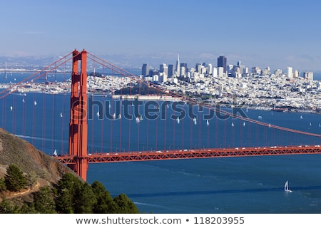 Stock photo: San Francisco Panorama w the Golden Gate bridge