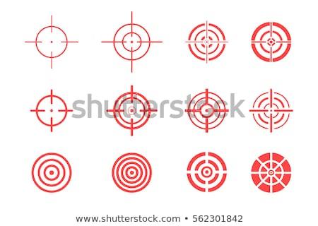 赤 アイコン 狙撃兵 ターゲット ベクトル シンボル ストックフォト © blaskorizov