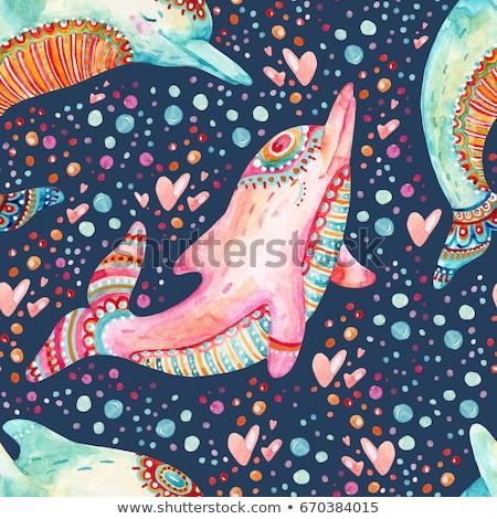 Yunus örnek kâğıt doğa okyanus Stok fotoğraf © colematt