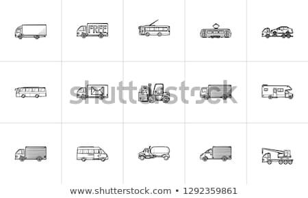 車 · 手描き · いたずら書き · アイコン - ストックフォト © rastudio