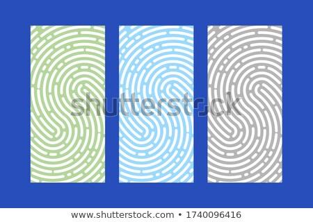 Identificatie vingerafdrukken posters ingesteld vector tekst Stockfoto © robuart