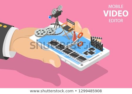 Isométrique vecteur vidéo app multimédia production Photo stock © TarikVision