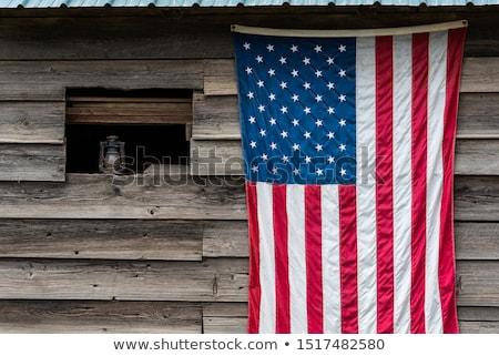 Drapeau américain suspendu à l'extérieur bâtiment Wall Street New York Photo stock © AndreyPopov