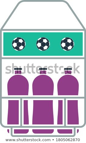 icon of football field bottle container stock photo © angelp