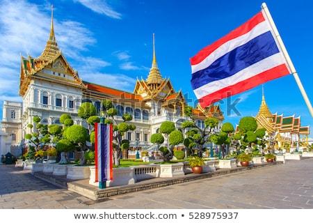Ev bayrak Tayland beyaz evler Stok fotoğraf © MikhailMishchenko