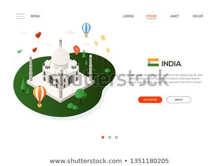 Visiter Inde modernes coloré isométrique web Photo stock © Decorwithme