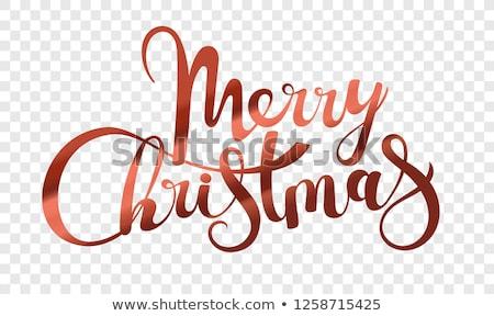 happy holidays merry christmas handwritten doodle stock photo © robuart