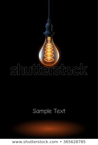 żarówka wektora streszczenie wnętrza starych 3D Zdjęcia stock © pikepicture
