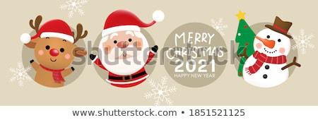 Wesoły christmas szczęśliwego nowego roku życzenia Święty mikołaj Święty mikołaj Zdjęcia stock © robuart