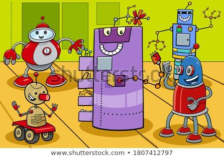 robot or droid cartoon comic character Stock photo © izakowski
