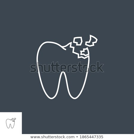 Tooth Crash Line Icon Stock photo © smoki