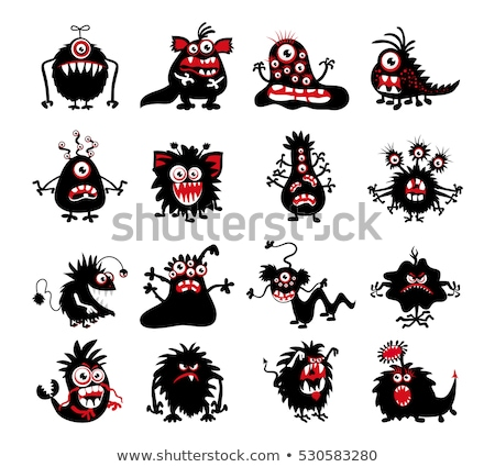 ghost character set for halloween red devil vector illustration stock photo © vicasso