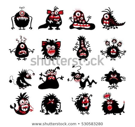 Szellem karakter szett halloween piros ördög Stock fotó © Vicasso