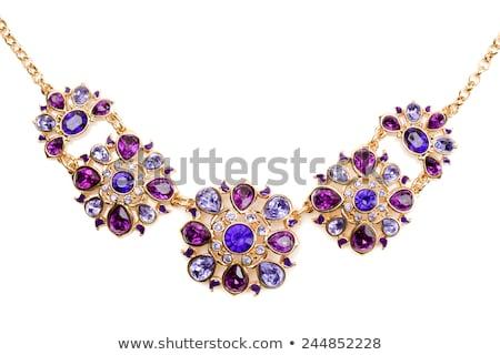 luxe · pourpre · diamant · mode · glace · pierre - photo stock © akhilesh