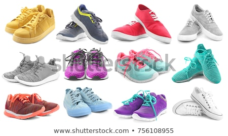 New Fitness sneakers set, fashion shoes for training running shoe. Sport shoes set Stock photo © MarySan