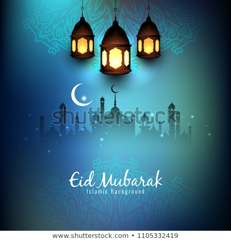 elegant islamic eid mubarak decorative background Stock photo © SArts