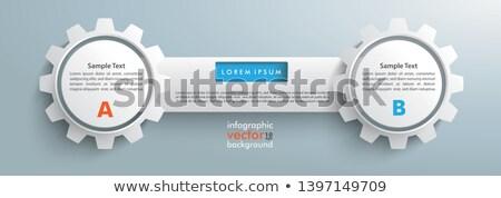 2 Gears Tab Infographic Header Stock photo © limbi007