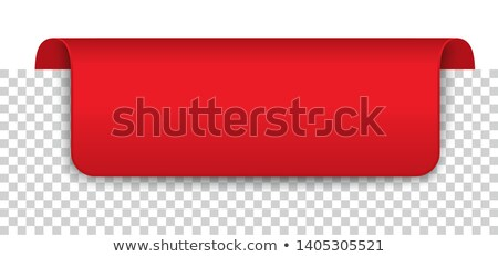 Long Red Covert Marker Banner Transparent Stock photo © limbi007