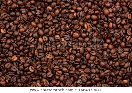 Tam kare atış kahve çekirdekleri doku gıda kahve Stok fotoğraf © nenovbrothers