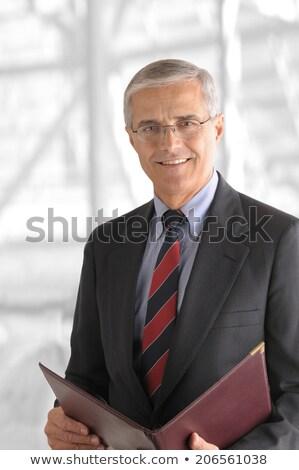 Alto chave retrato senior empresário sessão Foto stock © Giulio_Fornasar