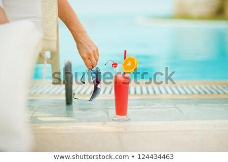 Kadın yüzme havuzu doğru su güneş yaz Stok fotoğraf © Kzenon