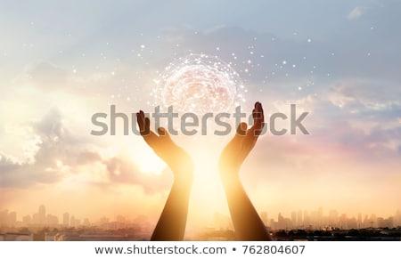 Pszichológia kapcsolat gondolkodik együtt agy stressz Stock fotó © Lightsource