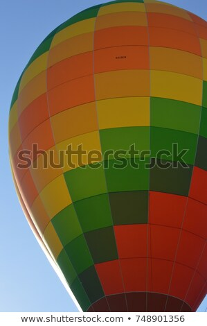 Outline modern colorful banner, hot air balloon Stock photo © marish