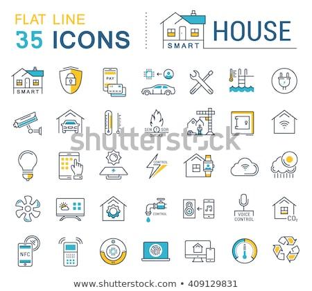 conditioning system flat icons set Stock photo © netkov1