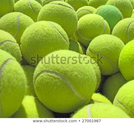 Grupo amarillo tenis juego neto estadio Foto stock © pressmaster