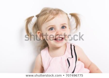 Portré kétéves lány izolált fehér 2 éves Stock fotó © Lopolo