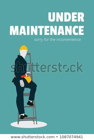 Utrzymanie tekst pracownika człowiek ilustracja niebieski Zdjęcia stock © wavebreak_media